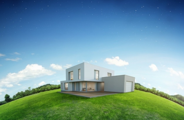 modern-house-earth-green-grass-with-blue-sky-background_42251-46